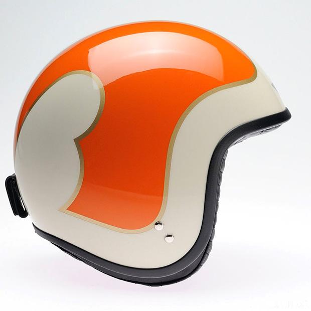Davida Jet Helmet - Cream B Orange Gold Complex