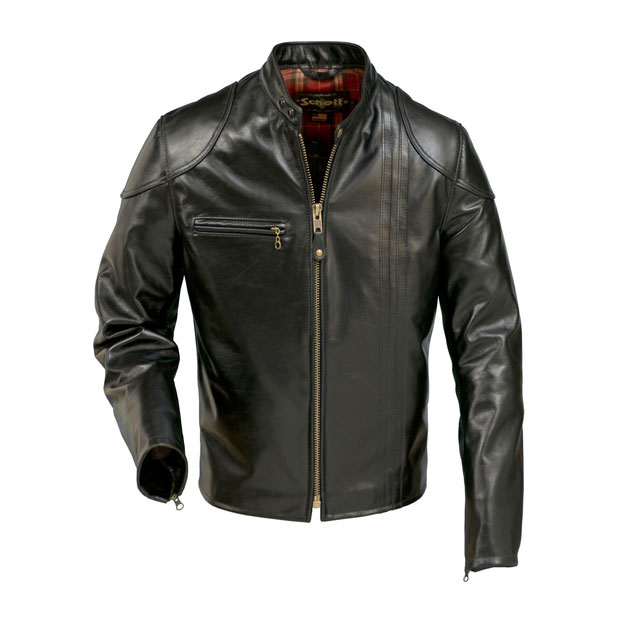 Schott 664 - Retro Cafe Racer Leather Jacket - King of Fuel