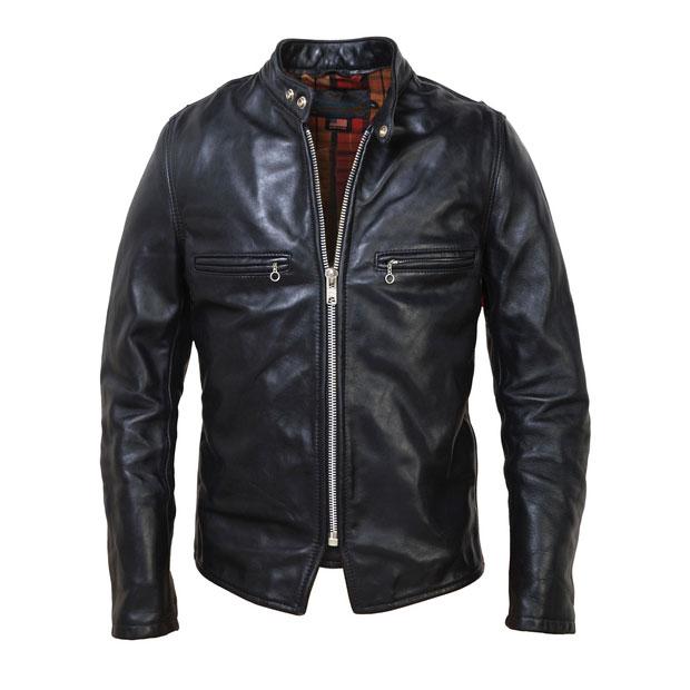 Schott CAF1Leather Cafe Racer Motorcycle Jacket