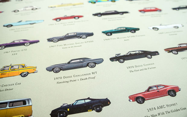 The Filmography of Cars Art Print