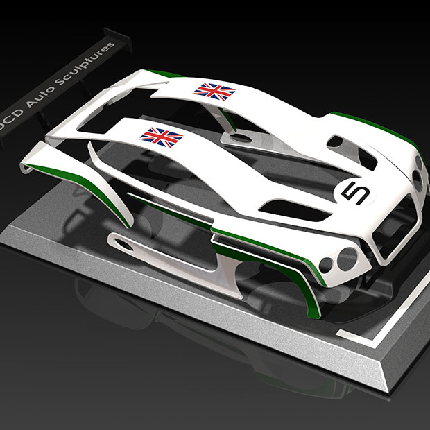 Bentley Continental GT3 race car 1/10th Scale Model - King of Fuel