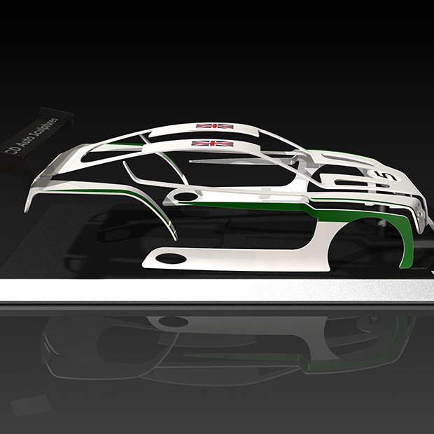 Bentley Continental GT3 race car 1/10th Scale Model