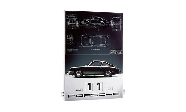 Porsche 911 Enamel Calendar
