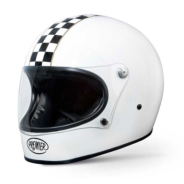White Chequered Premier Trophy Helmet