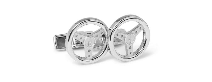 Alfred Dunhill Steering Wheel Cufflinks