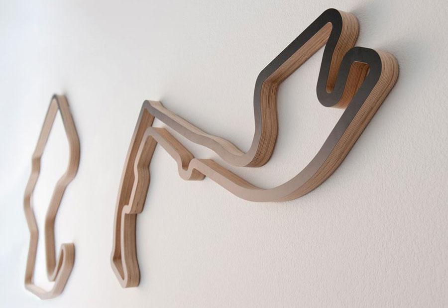 Linear Edge Sculptures - Racing Circuit Art