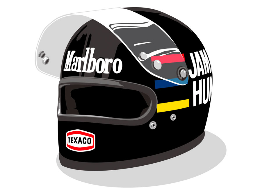 1970's Formula 1 Helmet Illustrations - King of Fuel