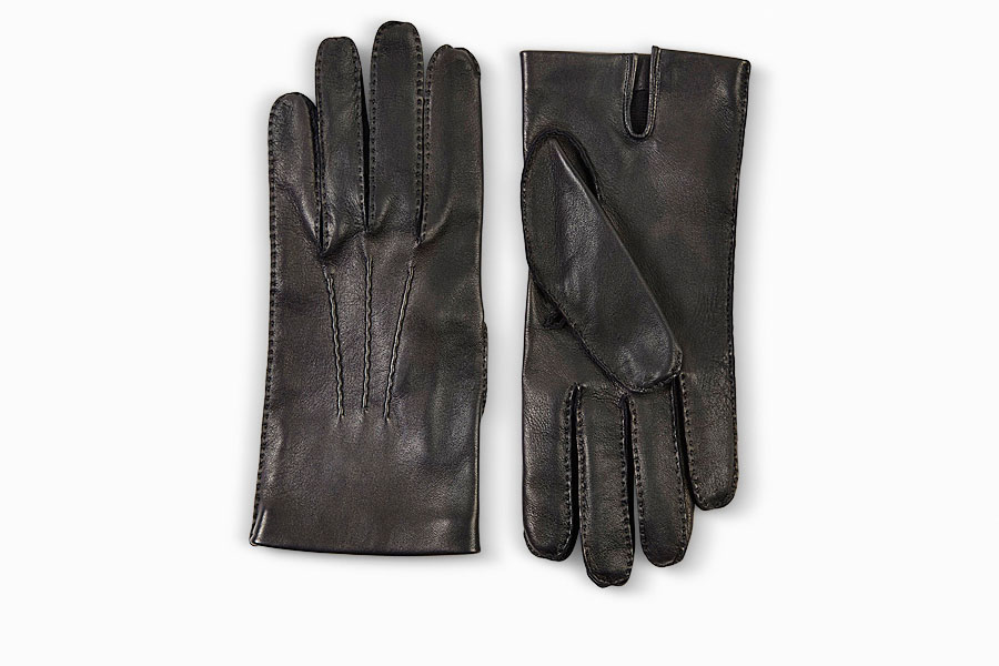 Dunhill Black Leather Driving Gloves