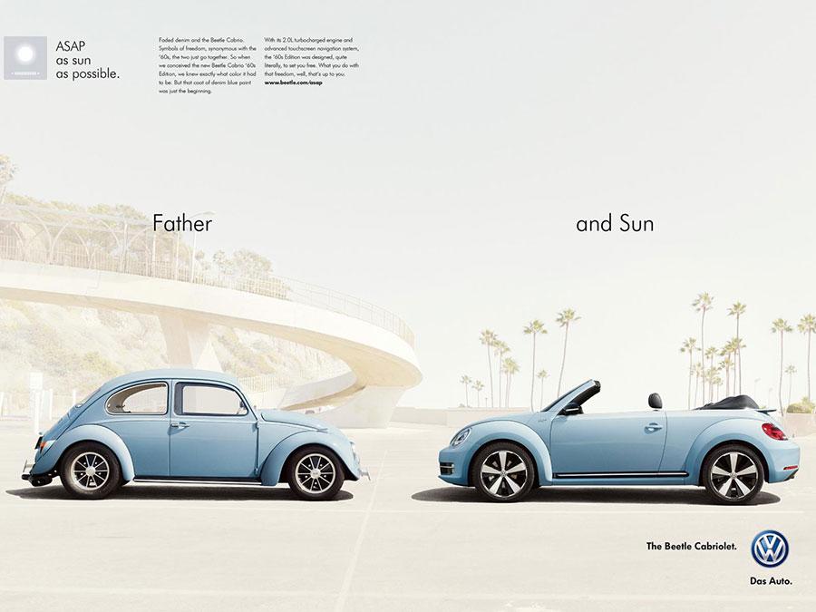 VW Beetle Cabriolet Advertising