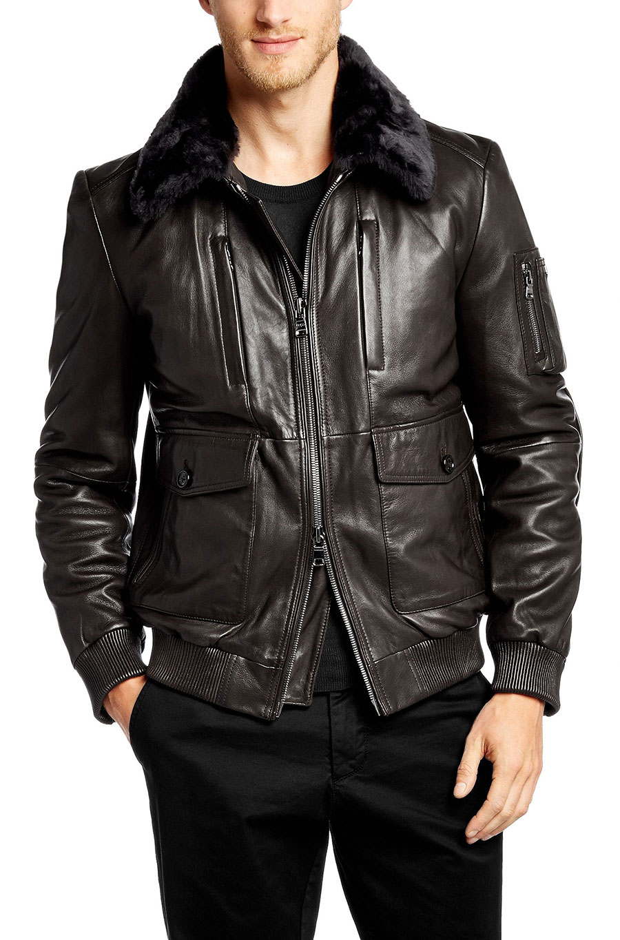 Mille miglia anniversary limited edition leather jacket for Hugo boss mercedes benz jacket