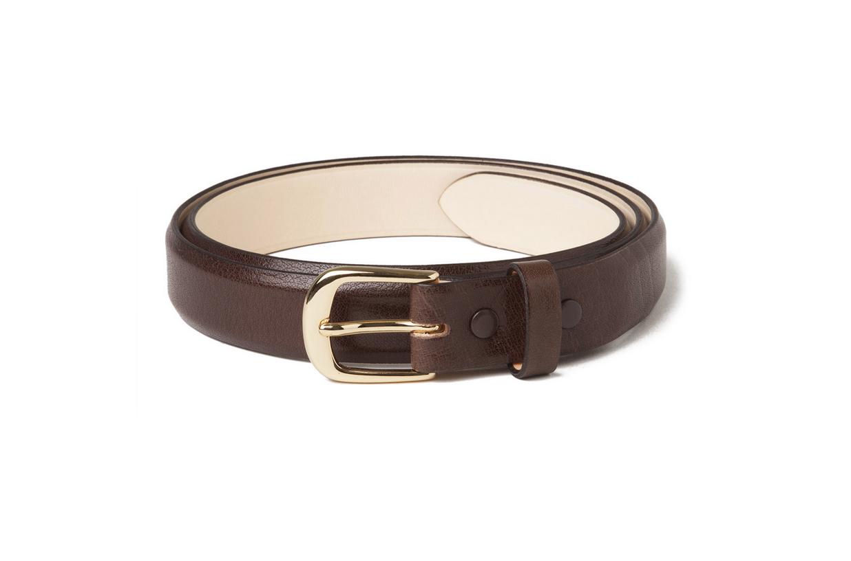 Buffalo Leather Belt in Brown