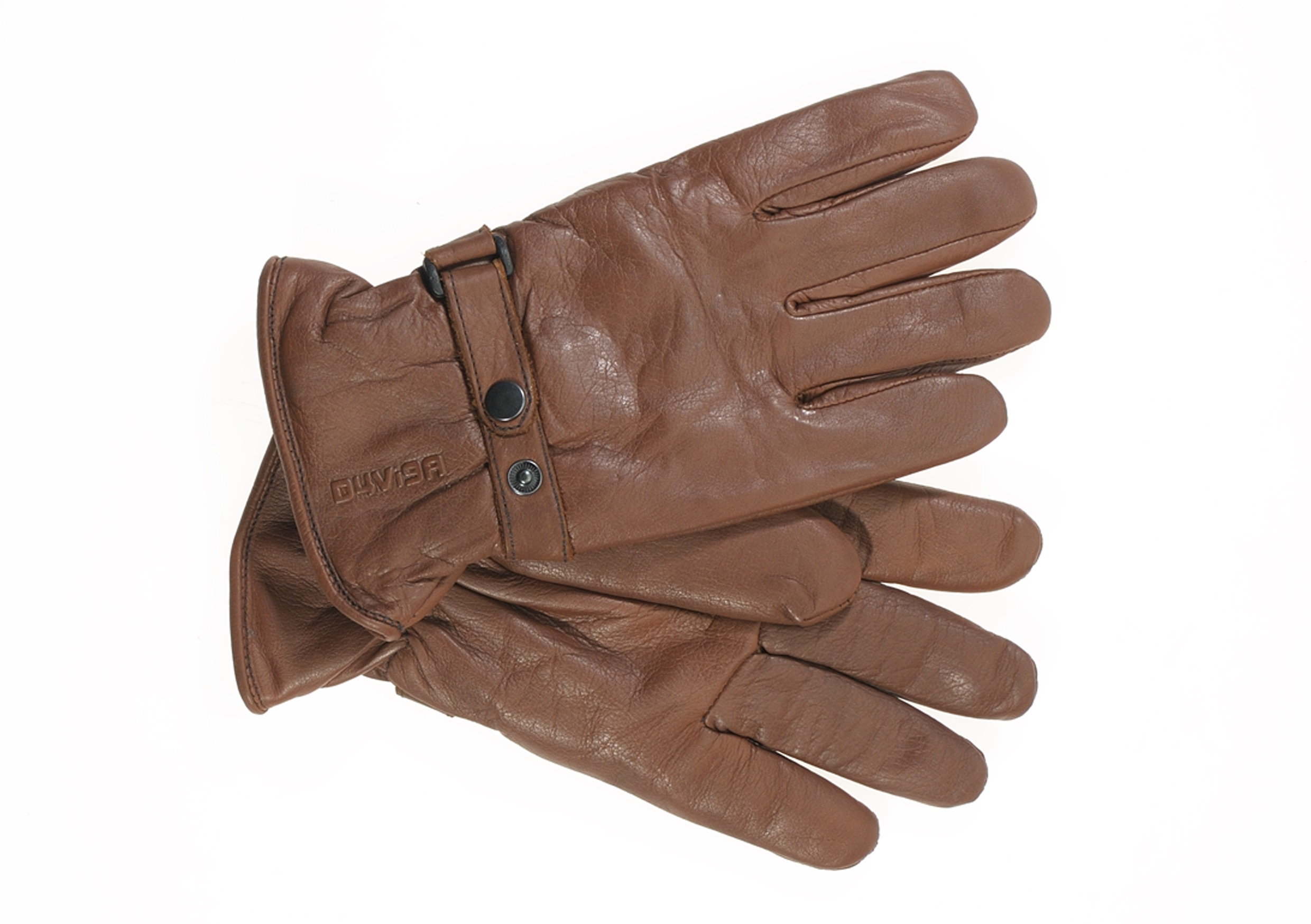New NUT Brown Leather Shorty Gloves by D4Vi9A