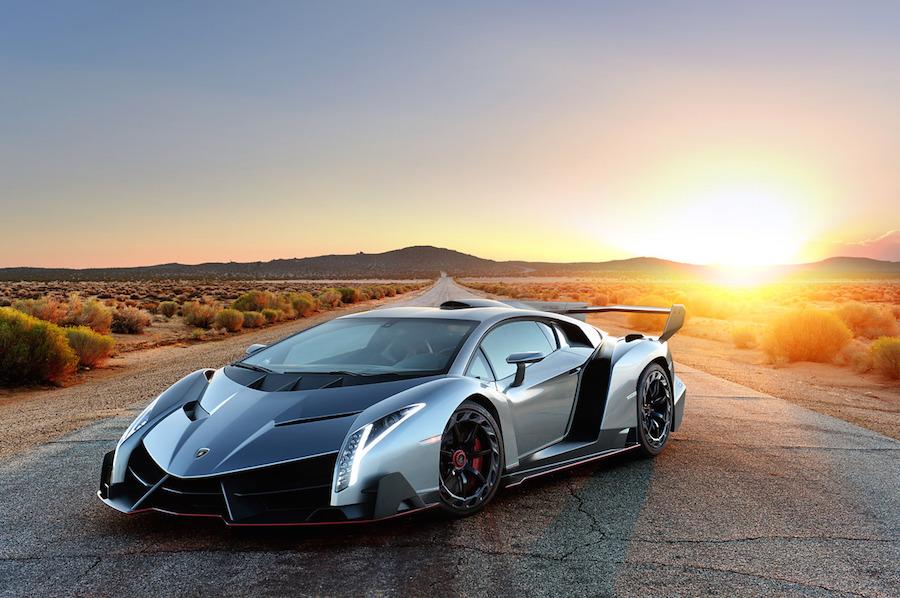 Lamborghini Veneno front sunset