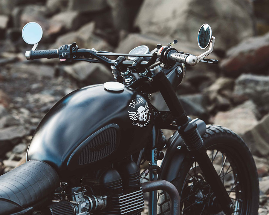 The Onyx, 2012 Triumph Scrambler by Deus Customs