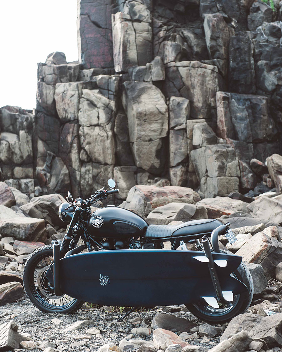 The Onyx, 2012 Triumph Scrambler by Deus Customs