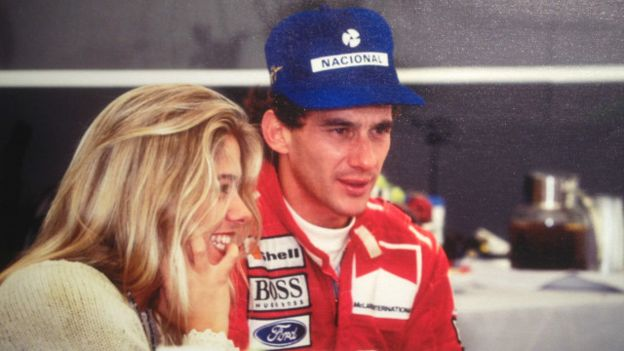 Senna Silverstone Adriane Galisteu